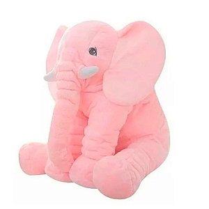 Almofada Bebe Elefante Gigante Rosa Buba