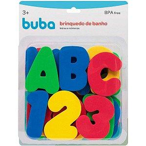 Brinquedo De Banho Letras e Numeros Buba