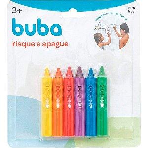 Lápis Risque E Apague Com Esponja Colorido Buba
