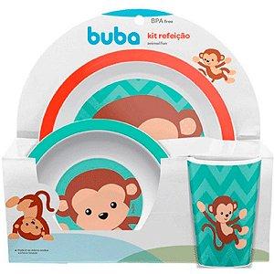 Kit Refeição Animal Fun Buba Macaco