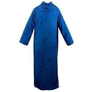 Cobertor Soft Com Mangas Azul