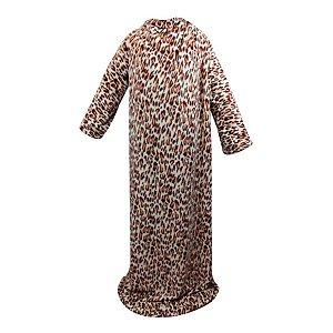 Cobertor Com Mangas Onça Bege