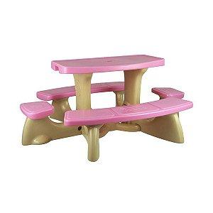 Mesa Infantil de Plástico Para PicNic Freso 8 Lugares