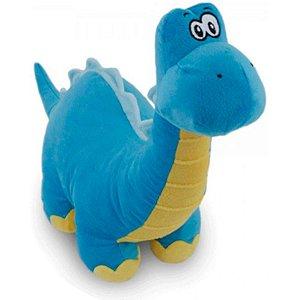 Almofada Bicho De Pelúcia Baby Dino Azul