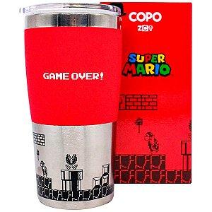 Copo Viagem Max 450ML Game Over Retro Mario Bros