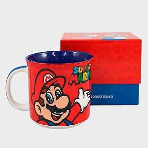 Caneca De Cerâmica Acao Mario Bros 350 ML