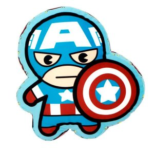 Almofada Formato Super Herói Capitão América Da Marvel