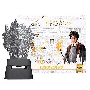 Luminária Com Speaker Bluetooth Harry Potter Hogwarts
