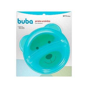 Prato Ursinho Com Divisória Azul Buba Baby