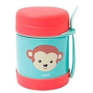 Pote Térmico Animal Fun Macaco Com Colher