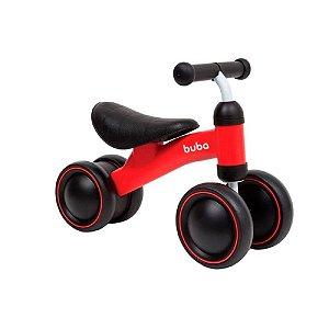 Bicicleta De Equilíbrio 4 rodas Vermelho Buba