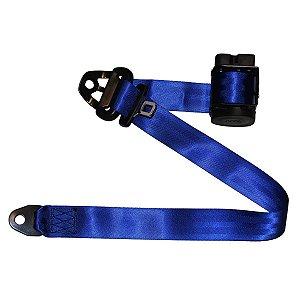 Par de Cintos de Segurança Retrátil 3 Pontos Azul