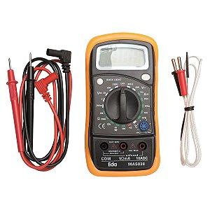 Multímetro Digital Com Sensor De Temperatura e Beep