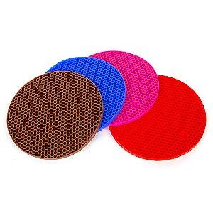 Descanso de Panela Silicone Redondo Colors 17,5cm