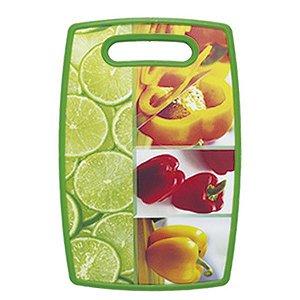 Tábua Plástica Retangular Decorada Frutas 30x20cm