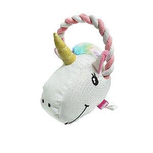 Brinquedo Toy Para Pet Mordedor Corda Unicórnio 15cm