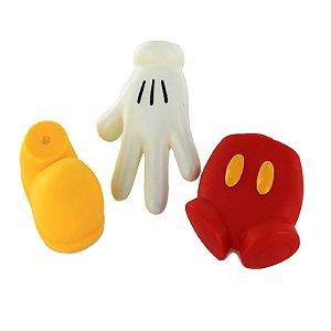 Disney Brinquedos Mordedor Guapo Mickey Mouse Com 3 Peças
