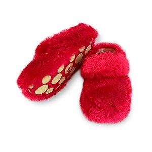 Pantufa Ricsen Kick Colors Pelúcia Vermelho Feminino