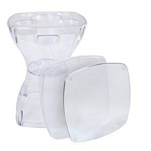 Mesa Banqueta Multiúso Plus PlastTable PC  Transparente