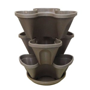 Vasos Empilháveis PPTP Areia PlastGarden