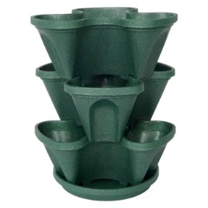 Vasos Empilháveis PPTP Verde  PlastGarden