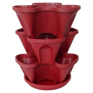 Vasos Empilháveis PPTP Vermelho  PlastGarden