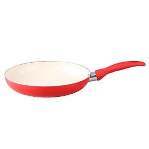 Frigideira Ceramica Slim 24 cm Vermelha