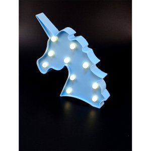 Luminaria Led  Unicornio Azul