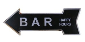 Placa Decorativa Bar Happy Hours