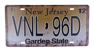 Placa Decorativa New Jersey