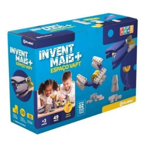Brinquedo de montar Playou Invent Mais Espaço Vapt 49 peças