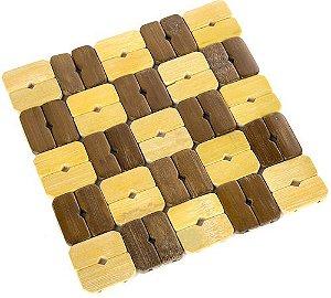 Descanso Para Panela Bamboo Xadrez