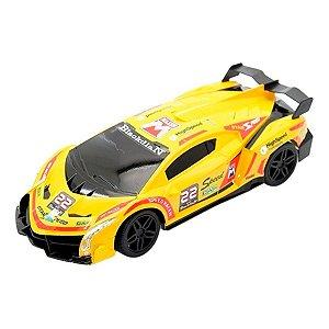 Carro De Controle Remoto  Recarregável Com 7 Funções Amarelo