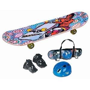 Skate com Acessórios Sortido  Fênix