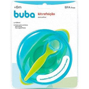 Kit Refeicao Azul Buba Com Colher