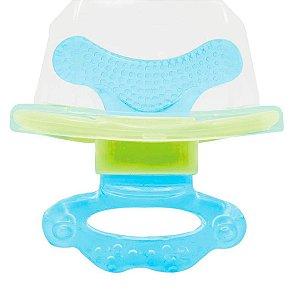 Mordedor Para Bebê E Massageador De Gengiva Azul