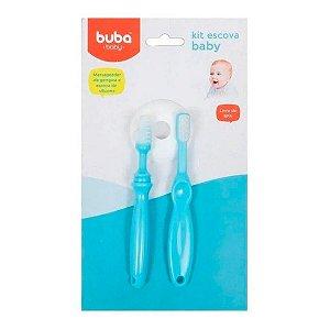 Kit Massageador e Escova Dental Com Escudo Buba Baby