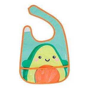 Babador Com Bolso Frutti Avocado Buba Multicolorido