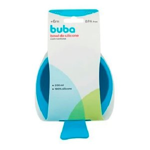 Bowl De Silicone Com Ventosa Azul Buba