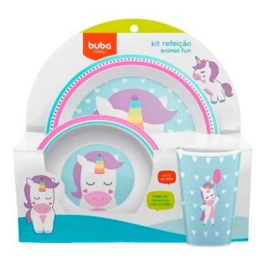 Kit Refeição Animal Fun Buba Unicórnio