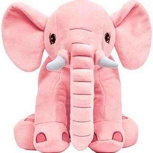 Almofada Travesseiro Elefantinho De Pelúcia Rosa