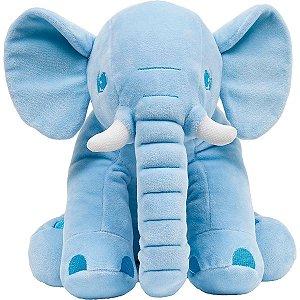 Almofada Travesseiro Elefantinho De Pelúcia Azul