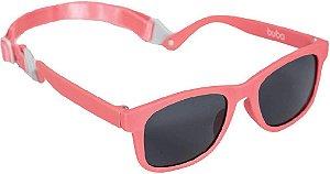 Óculos de Sol Baby Armação Flexível Rosa Alça Ajustável