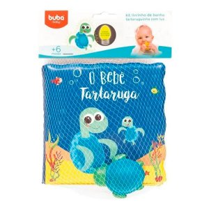 Kit Livrinho De Banho E Tartaruguinha Buba