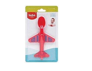 Colher Aviãozinho Para Bebê Vermelho Buba Baby