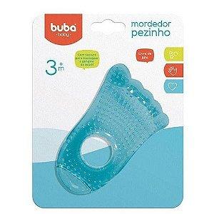 Mordedor De Água Pezinho Buba Baby Azul