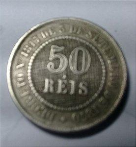 Moeda 50 Réis 1887 Fundo Linhado - Cupro Níquel Para Coleção