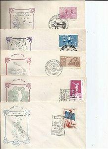 Envelope Primeiro Dia de Circulação Comemorativo com Selo e Carimbado Lote com 35 Envelopes