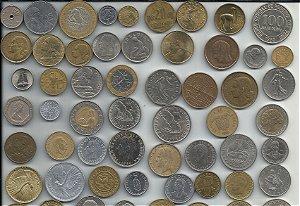 Lote 100 Moedas Estrangeiras Antigas Para Coleção Sem Repetição Diversos Países