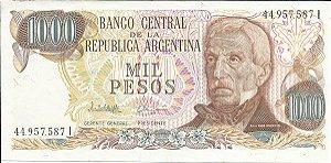 Cédula Argentina 1000 Mil Pesos FC Praça de Maio Buenos Aires